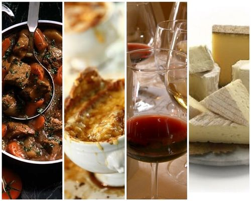 French foodie mosaic